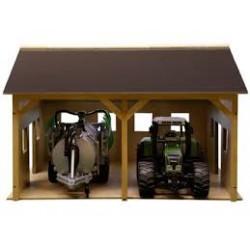 Hangar en bois pour 2 tracteurs